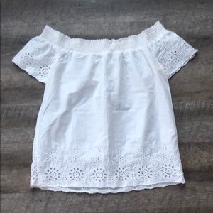 Old Navy Off the shoulder lace blouse